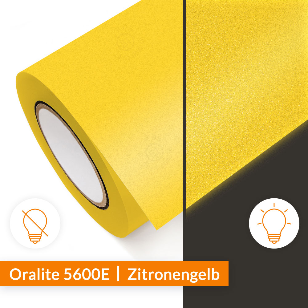 Reflexfolie Orafol Oralite 5600E Zitronengelb - SalierShop.de