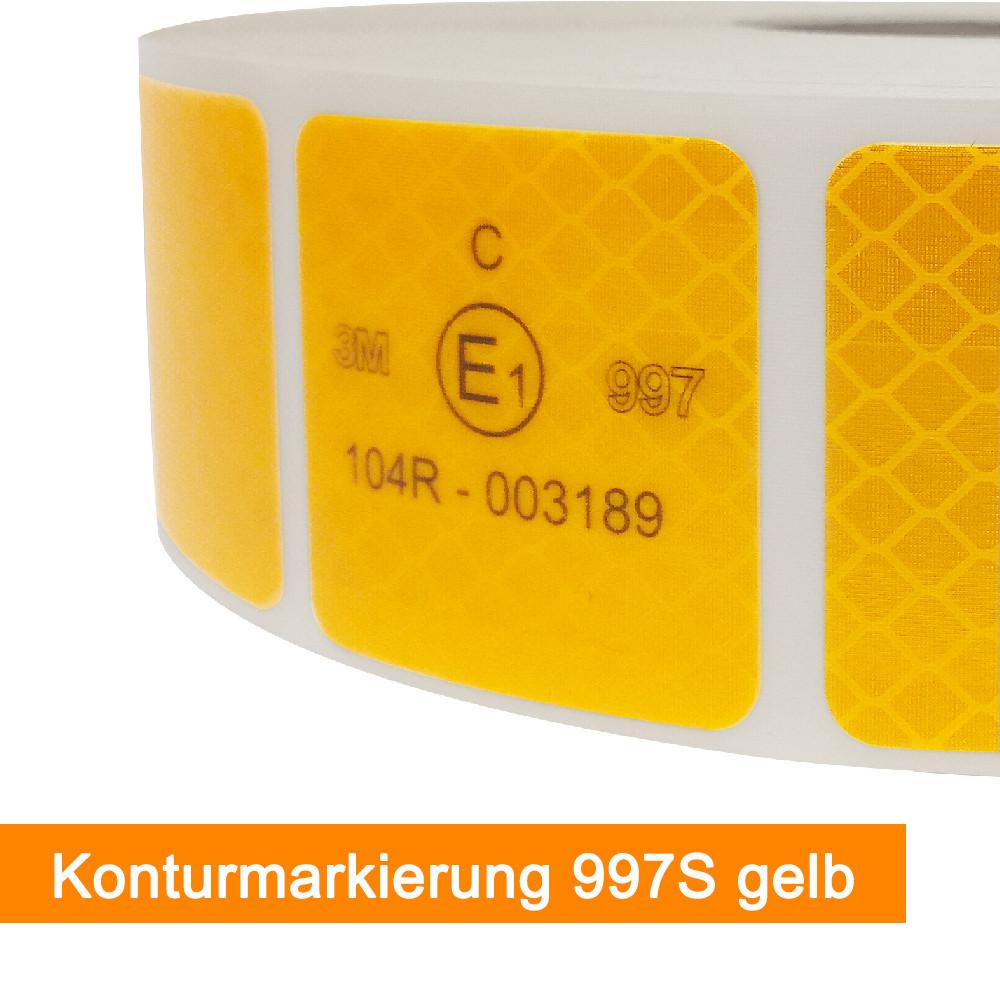 3M Scotchlite 997S Konturmarkierung für Planen in Gelb - SalierShop.de
