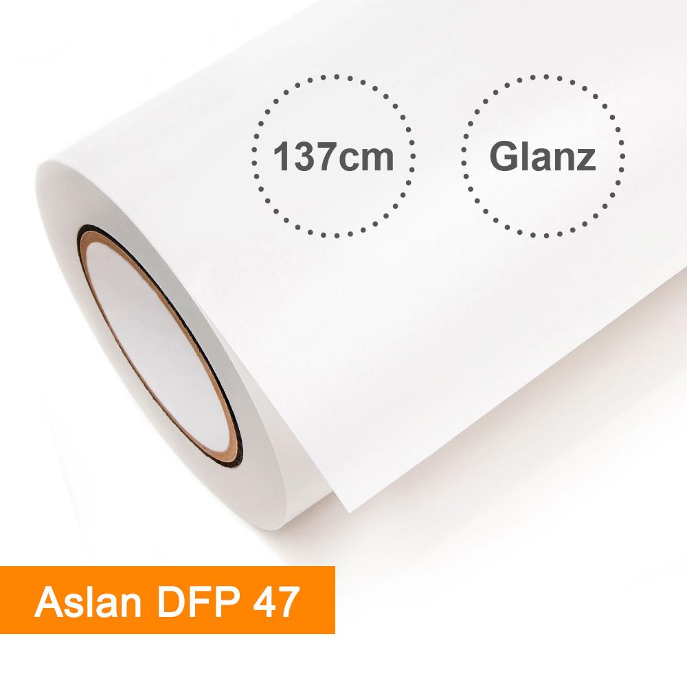 Digitaldruckfolie Aslan DFP 47 weiß glänzend - Rollenbreite 137cm - Rollenlänge 25m - SalierShop.de