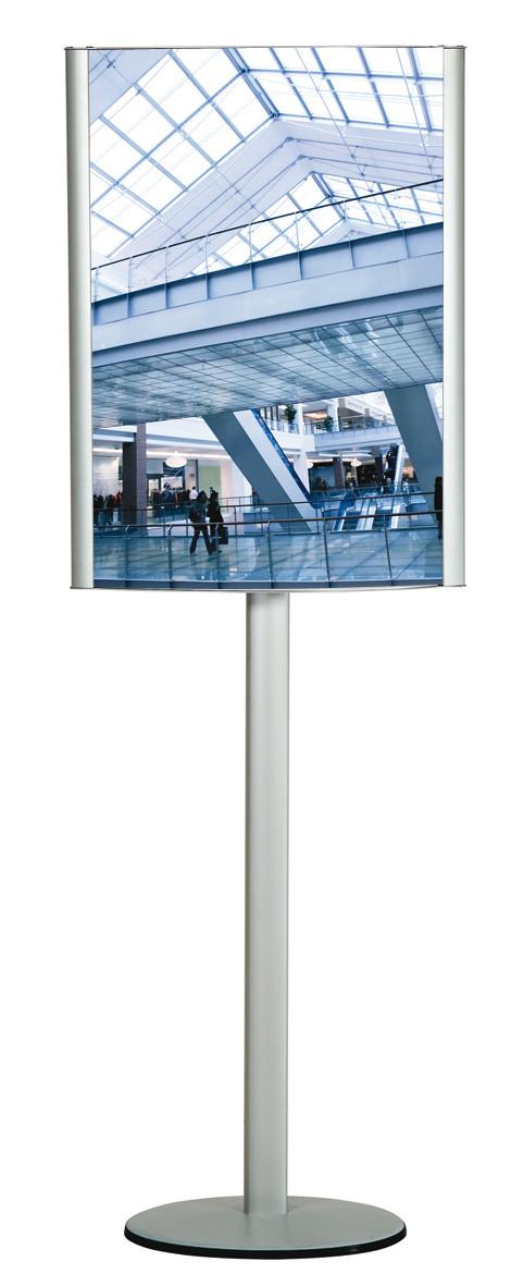 Konvex-Plakatständer auf Zentralprofilgestell, DIN A1