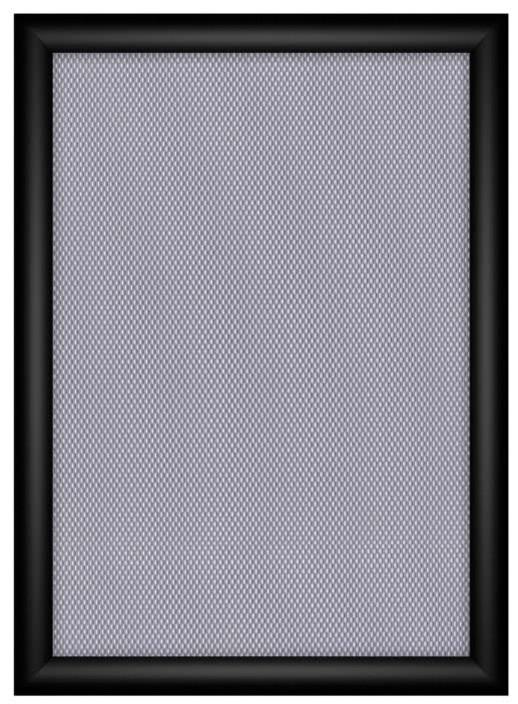 FireProtection-Klapprahmen, 25mm, Gehrung, DIN A2, schwarz eloxiert