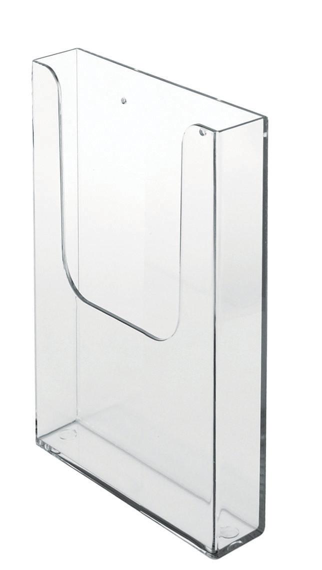 Wand-Prospektdispenser, Hochformat, DIN Lang