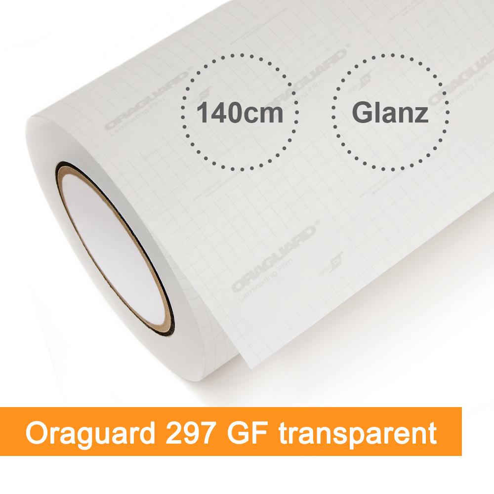 Laminat Orafol Oraguard 297GF transparent glänzend - Rollenbreite 140cm - Rollenlänge 25m - SalierShop.de