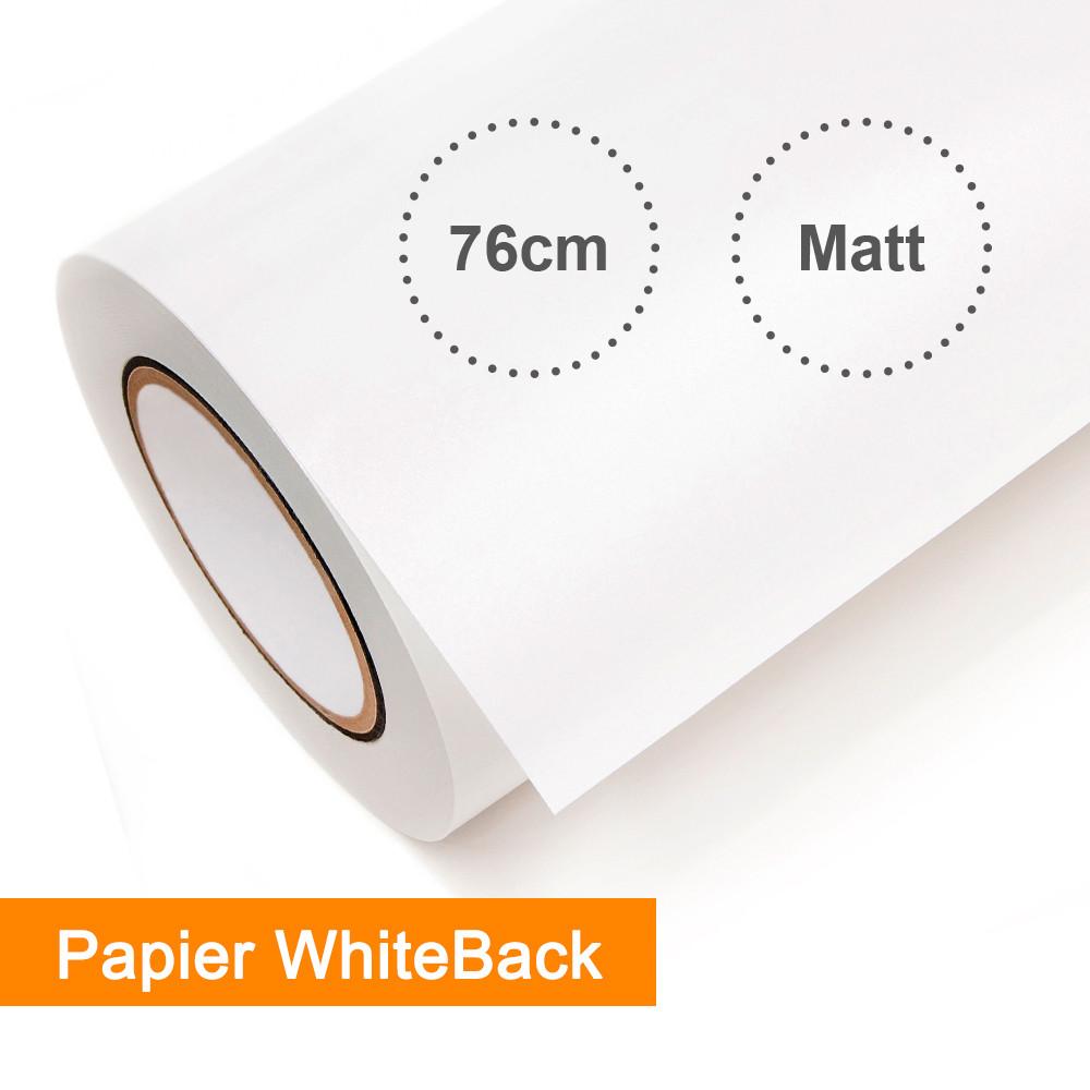 EMBLEM Papier WhiteBack SOWBPRO2 weiß seidenmatt  - Rollenbreite 76,2cm - Rollenlänge 50m - SalierShop.de