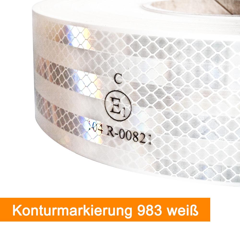 3M Scotchlite 983 Konturmarkierung für Festaufbauten in Weiß - SalierShop.de
