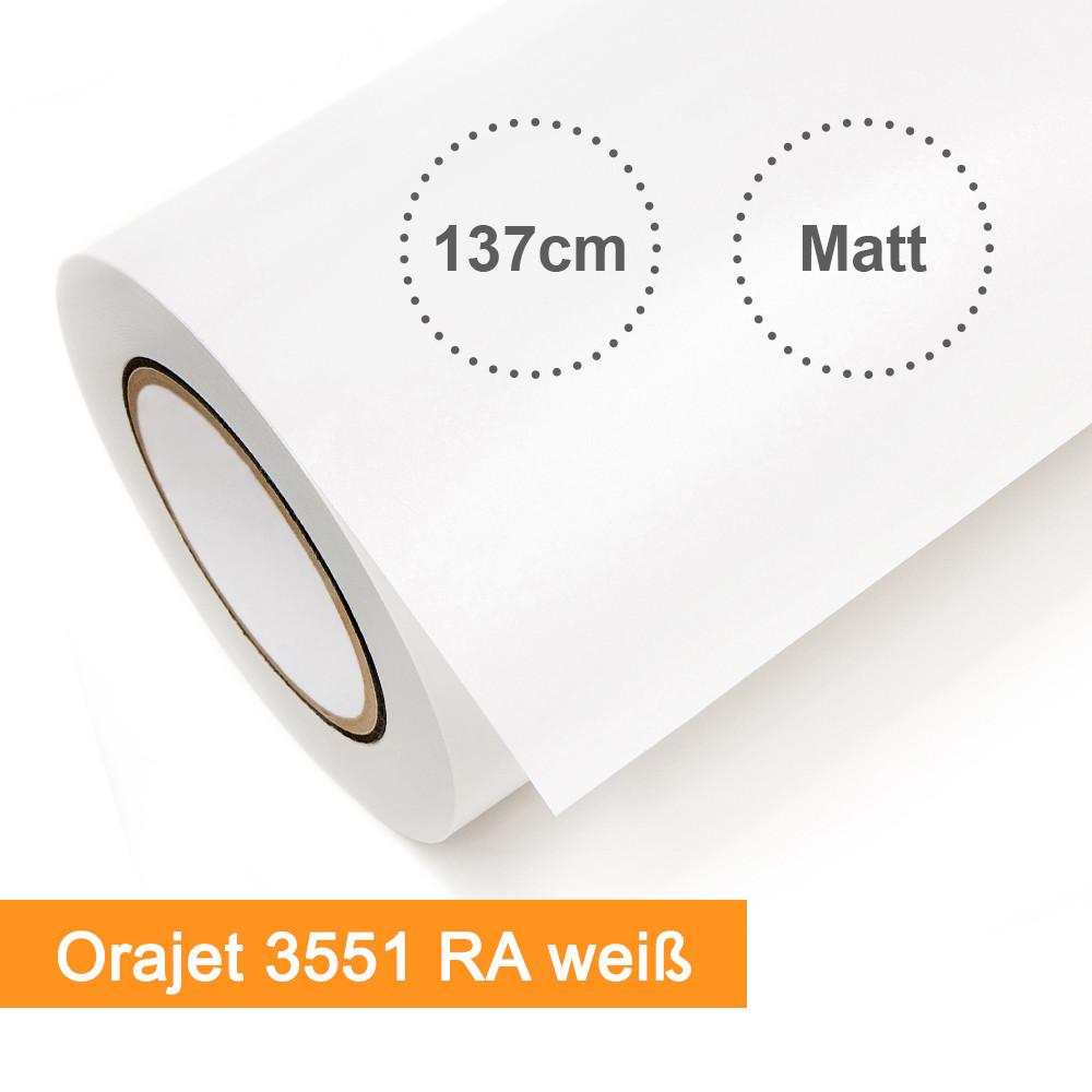 Digitaldruckfolie Orafol Orajet 3551RA weiss matt - Rollenbreite 137cm - Rollenlänge 50m - SalierShop.de