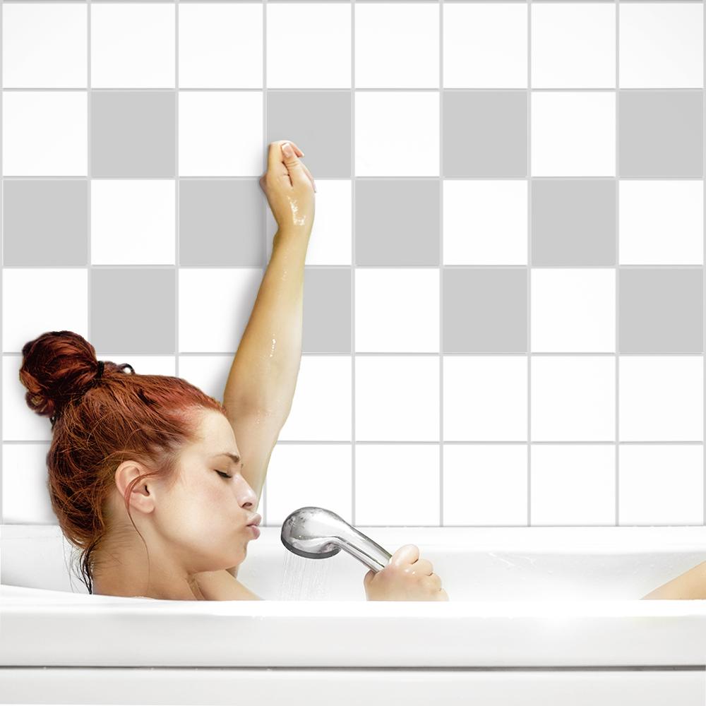 fliesenaufkleber fliesenfolie fliesensticker k che bad 20x25cm in matten farben ebay. Black Bedroom Furniture Sets. Home Design Ideas