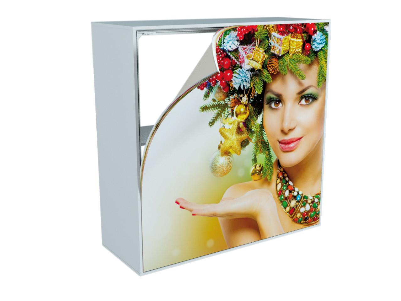 MaxiFrameLED Theke GO, 1000 x 1000 mm, Buche