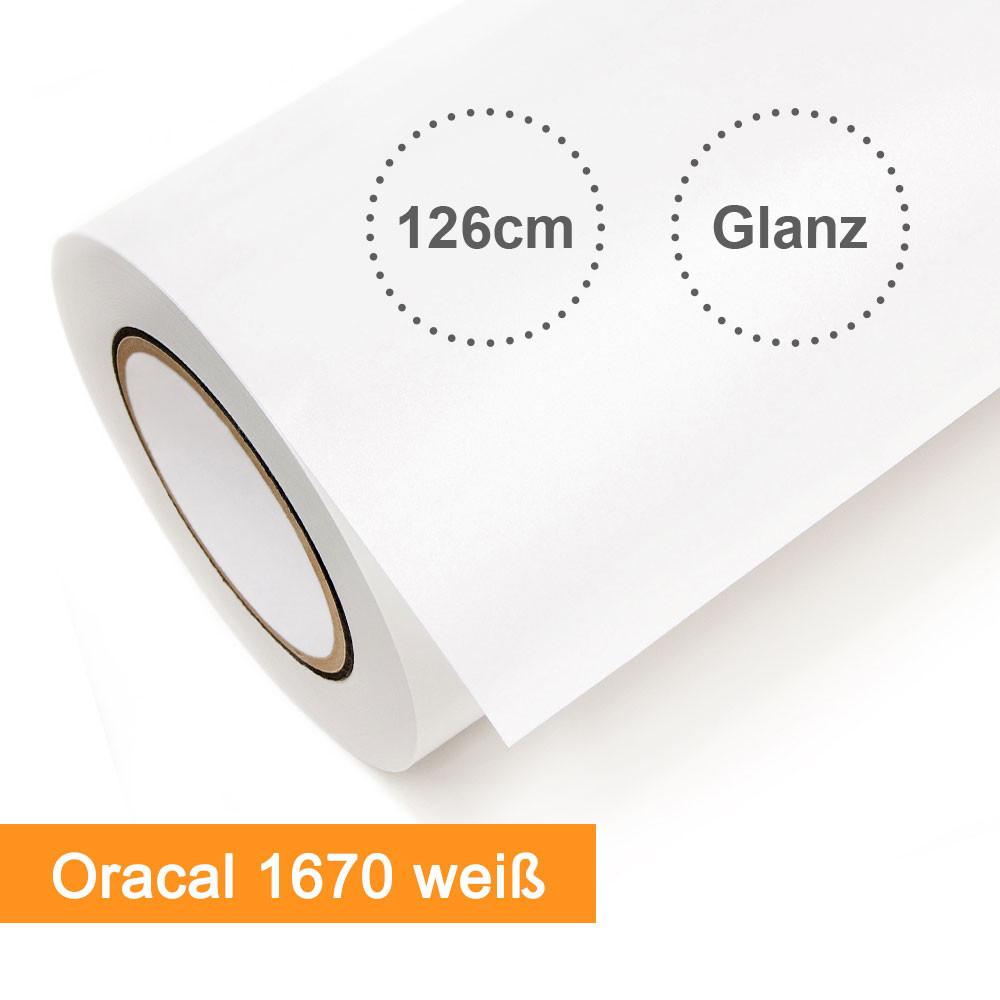 Digitaldruckfolie Orafol Oracal 1670 weiss glänzend - Rollenbreite 126cm - Rollenlänge 50m - SalierShop.de