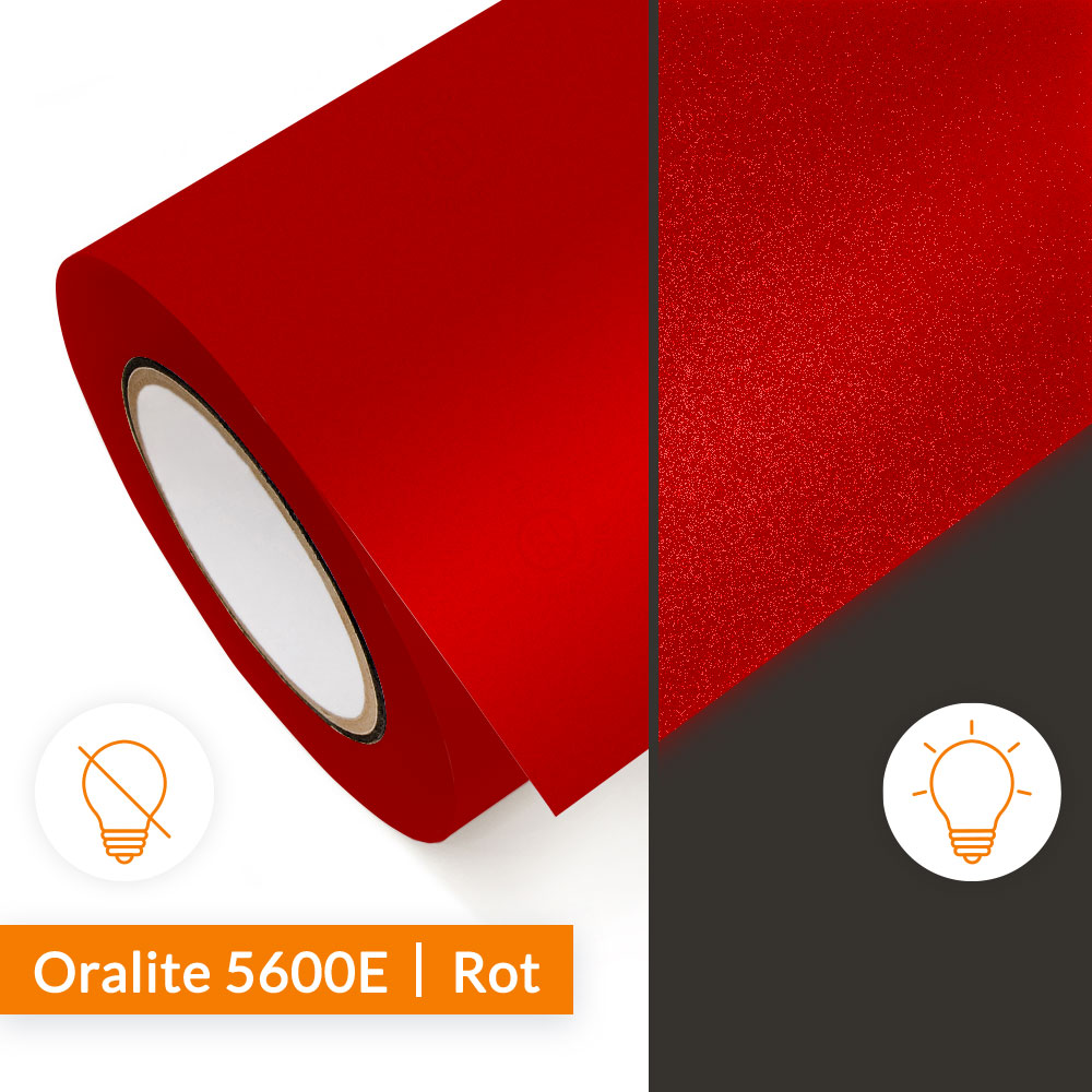 Reflexfolie Orafol Oralite 5600E Rot - SalierShop.de