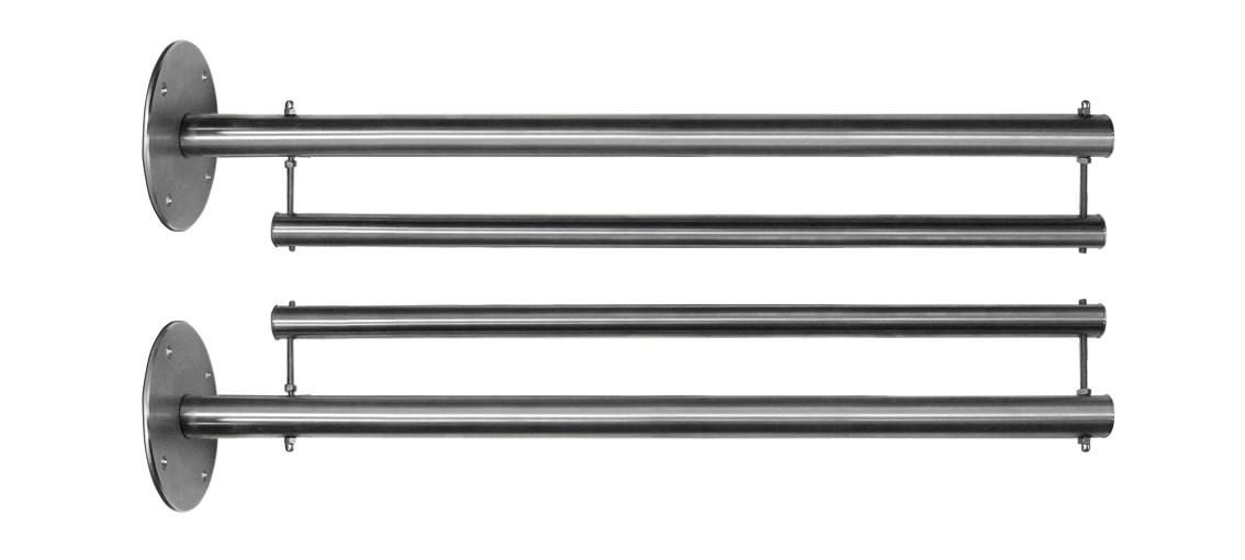 Edelstahl-Bannerausleger, 800 x 3000 mm