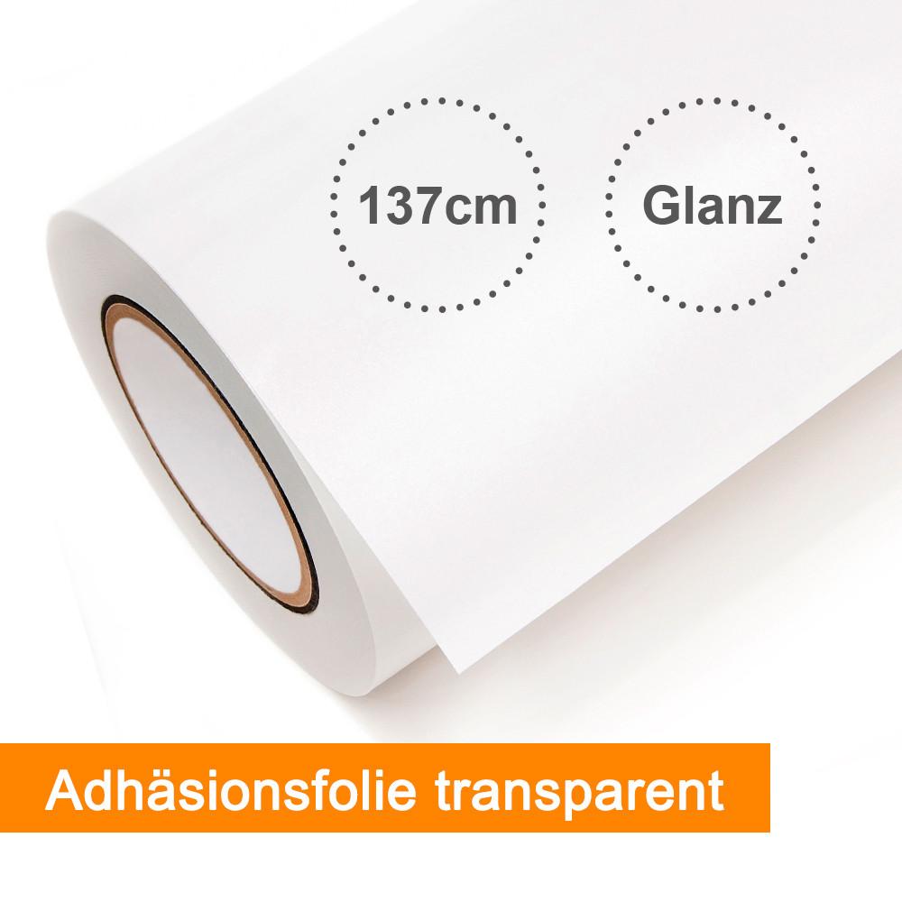 Digitaldruckfolie Emblem Adhäsionsfolie transparent glänzend - Rollenbreite 137,2cm - Rollenlänge 50m - SalierShop.de