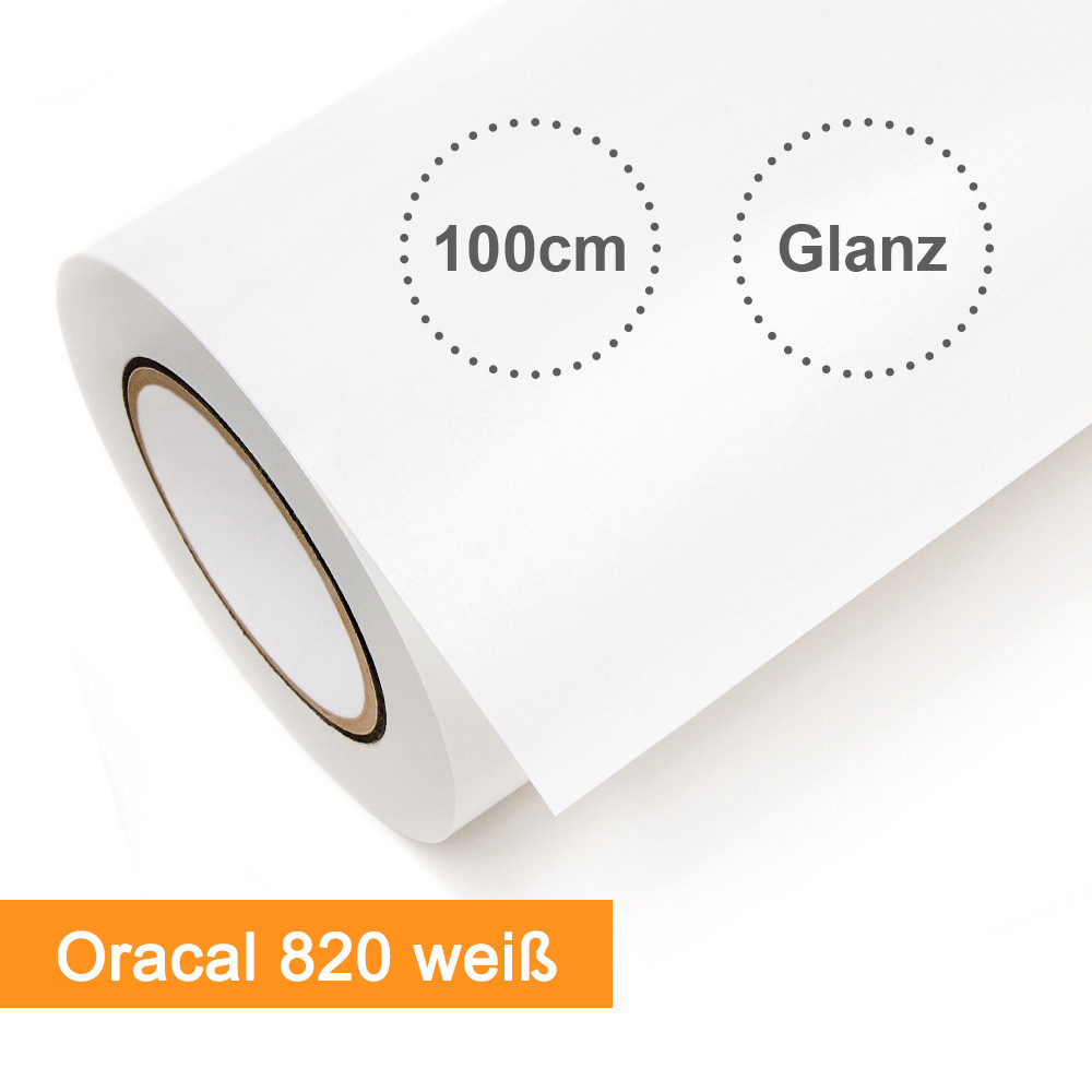Digitaldruckfolie Orafol Oracal 820 weiss glänzend - Rollenbreite 100cm - Rollenlänge 50m - SalierShop.de