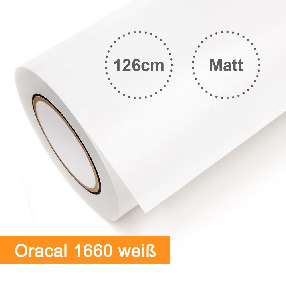 Digitaldruckfolie Orafol Oracal 1660 weiss matt - Rollenbreite 126cm - Rollenlänge 50m - SalierShop.de